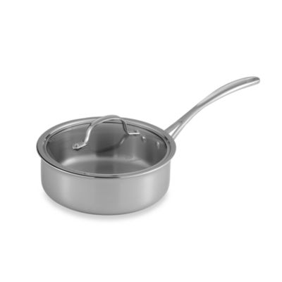 Calphalon® Tri-Ply Stainless Steel 2.5-Quart Shallow Saucepan with Lid
