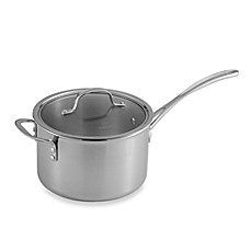 Calphalon® Tri-Ply Stainless Steel 4.5-Quart Saucepan with Lid