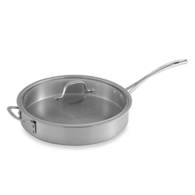 Calphalon® Tri-Ply Stainless Steel 5-Quart Saute Pan with Lid