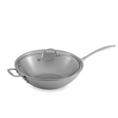Calphalon® Tri-Ply Stainless Steel 12-Inch Stir Fry Pan with Lid