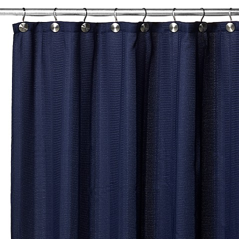 Westerly Fabric Shower Curtain in Navy
