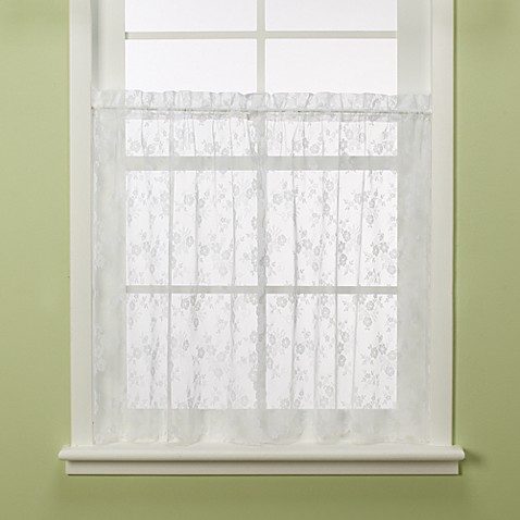 Petite Fleur 24-Inch Window Tier Pair in White
