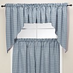 Gingham Swag Valance in Blue