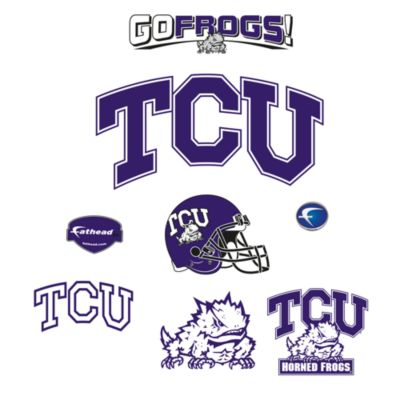 Texas Christian University Logo Junior Fatheads