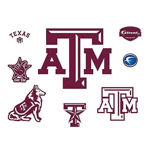 Texas A & M University Logo Junior Fatheads
