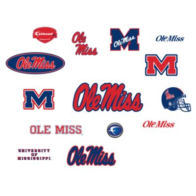 University of Mississippi Logo Junior Fatheads