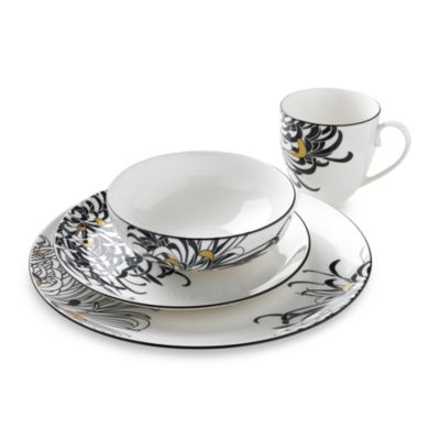 Denby Monsoon Chrysanthemum 4-Piece Place Setting