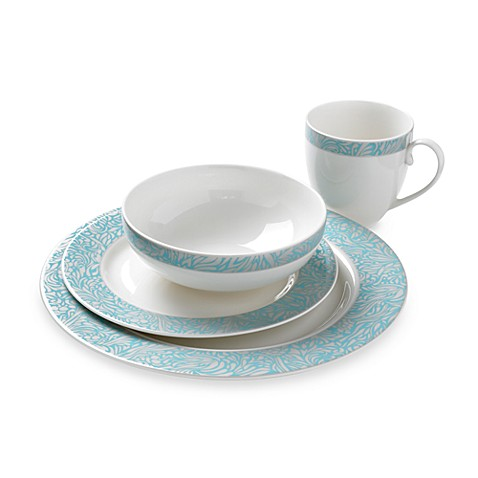Denby Monsoon Lucille 4-Piece Place Setting in Teal