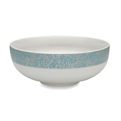 Denby Monsoon Lucille Teal 3 1/2-Pint Serving Bowl