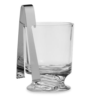 Nambe Groove Ice Bucket with Tongs