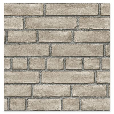 Façade Brick Wallpaper in Taupe