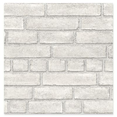 Façade Brick Wallpaper in Dove