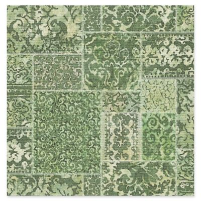 Esma Vintage Carpet Wallpaper in Green