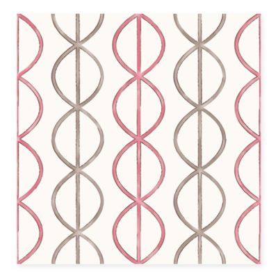 Banning Stripe Geometric Wallpaper in Pink