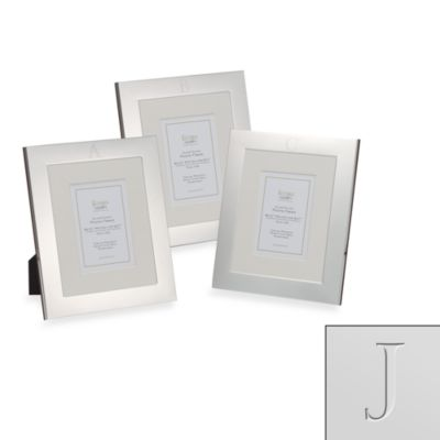 "Eccolo™ Silverplated Monogrammed Letter ""J"" 8-Inch x 10-Inch Photo Frame"