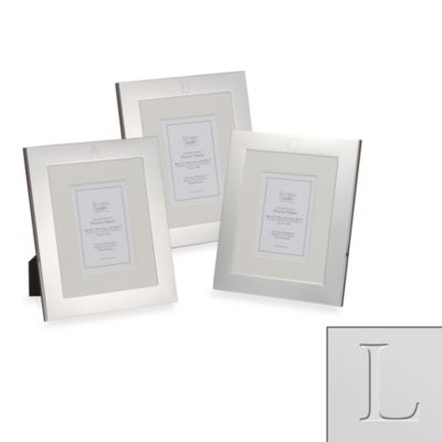 "Eccolo™ Silverplated Monogrammed Letter ""L"" 8-Inch x 10-Inch Photo Frame"