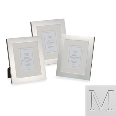 "Eccolo™ Silverplated Monogrammed Letter ""M"" 8-Inch x 10-Inch Photo Frame"