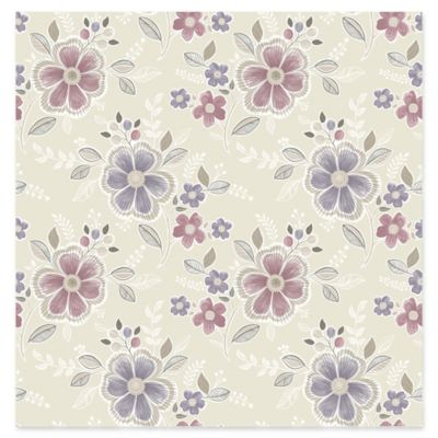 Chloe Floral Wallpaper in Purple