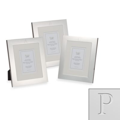 "Eccolo™ Silverplated Monogrammed Letter ""P"" 8-Inch x 10-Inch Photo Frame"