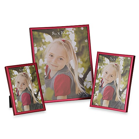 Metallic Pink 8-Inch x 10-Inch Photo Frame