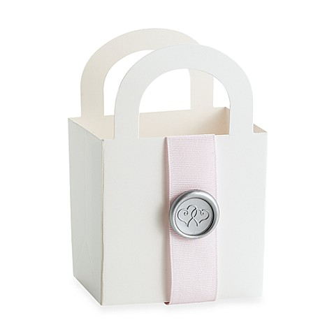 White Wedding Favor Boxes 50-Count Kit