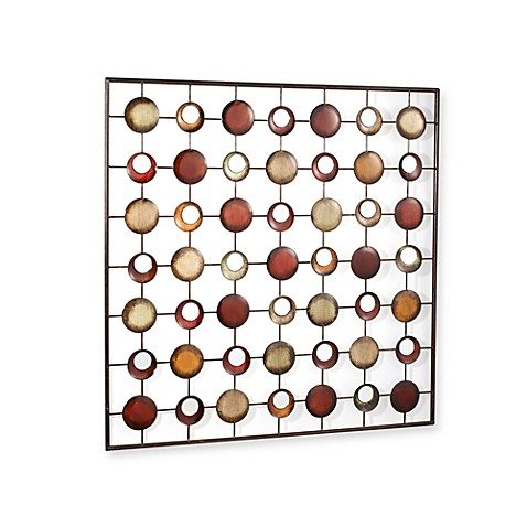 Art Metal And Mirrored Circles Wall Art