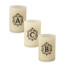 Monogrammed LED Blowout Candle