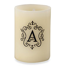 Monogrammed LED Blowout Candle - A