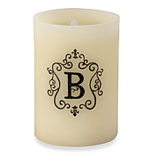 Monogrammed LED Blowout Candle - B