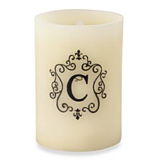 Monogrammed LED Blowout Candle - C