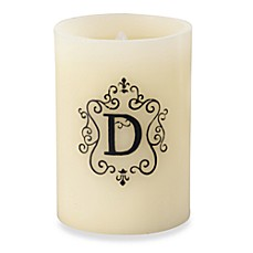 Monogrammed LED Blowout Candle - D