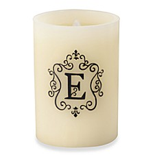 Monogrammed LED Blowout Candle - E
