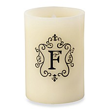 Monogrammed LED Blowout Candle - F