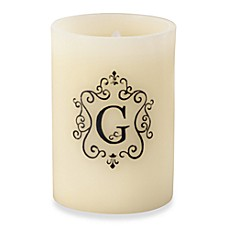 Monogrammed LED Blowout Candle - G