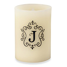 Monogrammed LED Blowout Candle - J