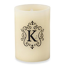 Monogrammed LED Blowout Candle - K