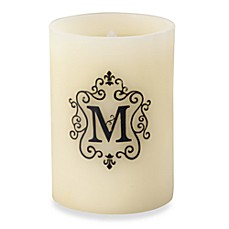 Monogrammed LED Blowout Candle - M