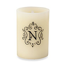 Monogrammed LED Blowout Candle - N