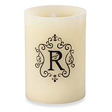 Monogrammed LED Blowout Candle - R