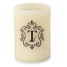 Monogrammed LED Blowout Candle - T