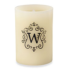 Monogrammed LED Blowout Candle - W