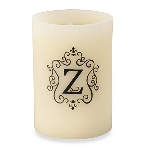 Monogrammed LED Blowout Candle - Z