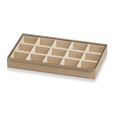 ampersand small 15 compartment stackable jewelry tray in
