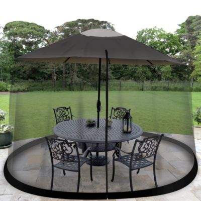 Jobar 7-Foot 6-Inch Umbrella Table Screen in Black