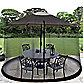 Umbrella Table Screens in Black