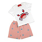 Mud Pie™ 2-Piece Crab Short Set
