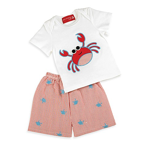 Mud Pie™ 2-Piece Crab Short Set - Size 0-6 Months