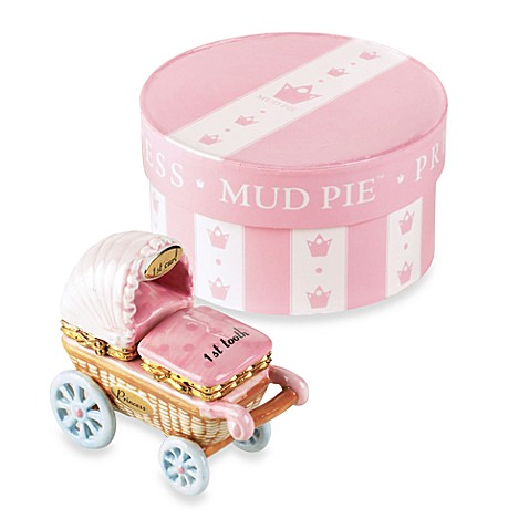 Mud Pie® Little Princess Baby Buggy First Curl And First Tooth Treasure Box