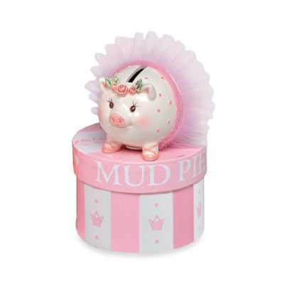 Mud Pie® Tiny Dancer Mini Ceramic Piggy Bank