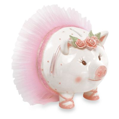 Mud Pie™ Tiny Dancer Giant Size Ceramic Piggy Bank